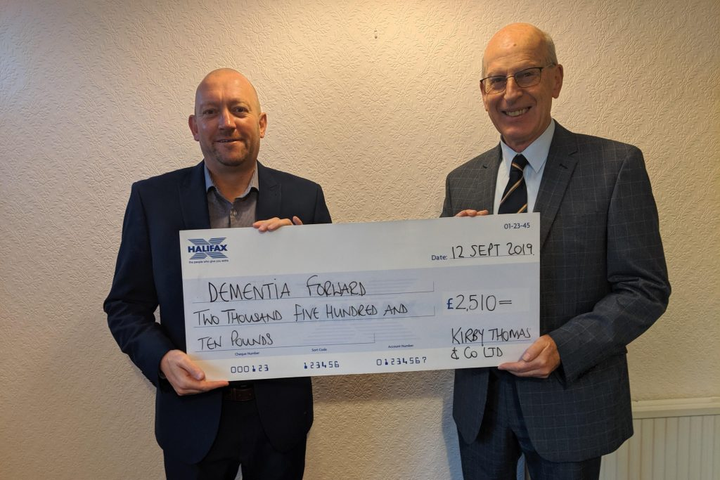 Paul Thomas and Peter Kirby: Dementia forward donation
